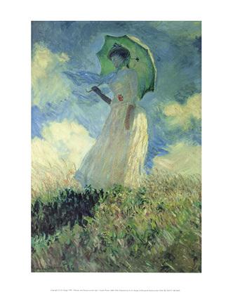 Claude Monet Frau mit Sonnenschirm