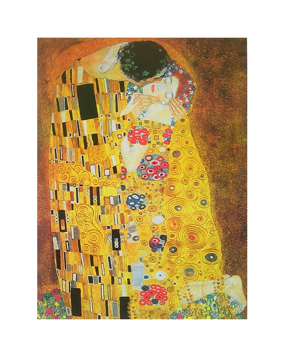 gustav klimt der kuss poster kunstdruck bild 30x24cm kostenloser versand ebay. Black Bedroom Furniture Sets. Home Design Ideas