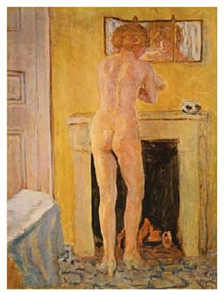 Pierre Bonnard Akt am offenen Kamin