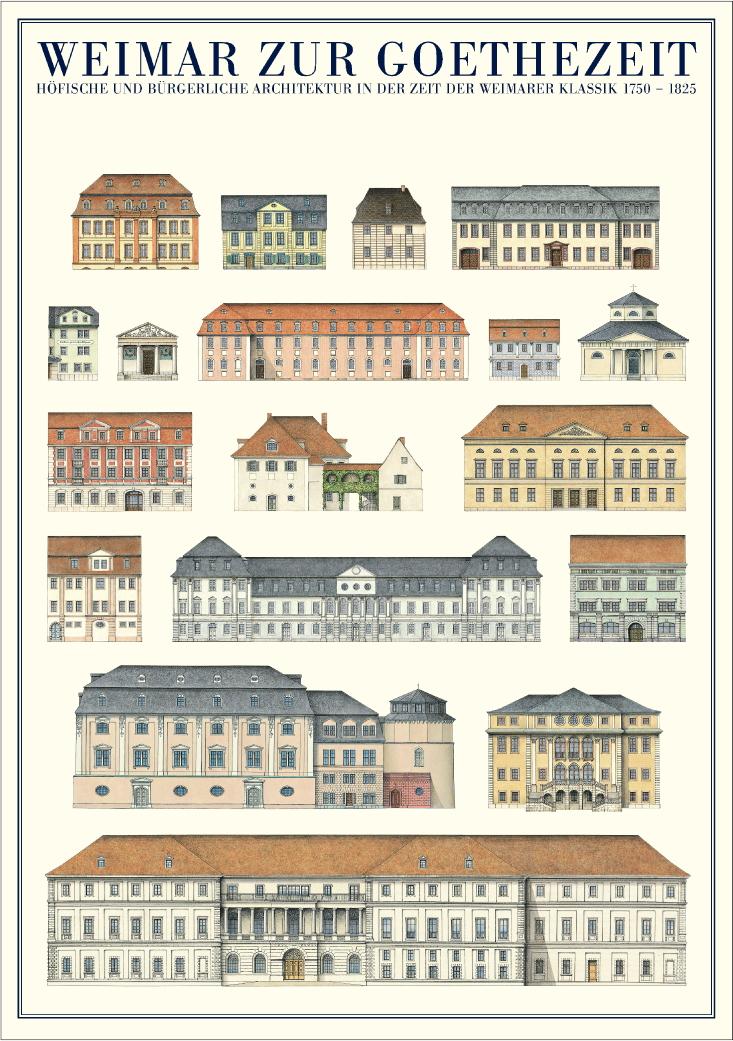 Architektur weimar weimar zur goethezeit poster kunstdruck bild 59 4x84 1cm ebay - Architektur weimar ...