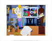Bearden romare profile part ii the thirties artist with painting and model 1981 medium