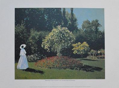 Claude Monet Frau im Garten
