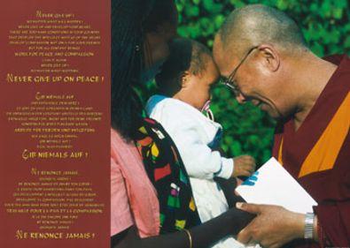 Johannes Frischknecht Dalai Lama mit Kind