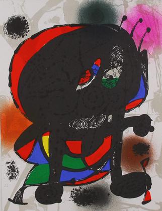Joan Miro Litografia Original III