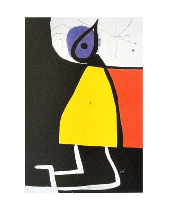 Joan Miro Dona en la nit