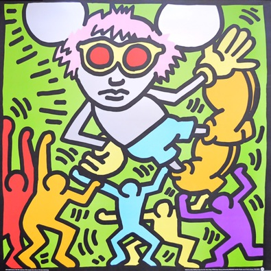 Keith Haring Andy Mouse II