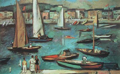 Willi Neubert Boote im Hafen