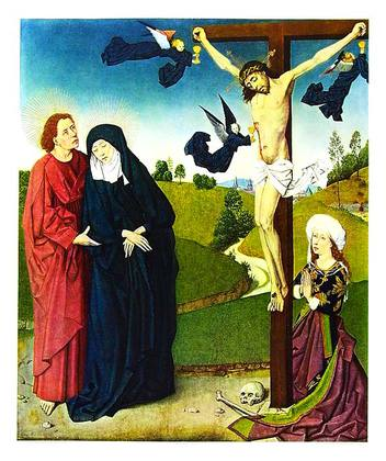 Meister des Marienlebens Christus am Kreuz