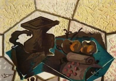 Georges Braque Die gruene Tischdecke