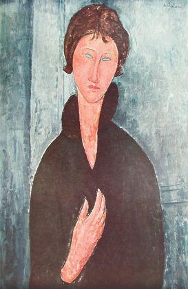 Amedeo Modigliani Maedchen mit blauen Augen