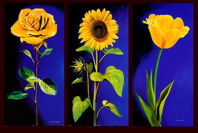 Michael Loeb 3er Set 'Rose' + 'Sonnenblume' + 'Tulpe'