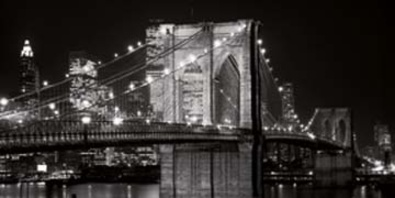 Alan Blaustein Brooklyn Bridge at Night