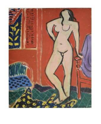 Henri Matisse Akt in rosa  rotes Interieur