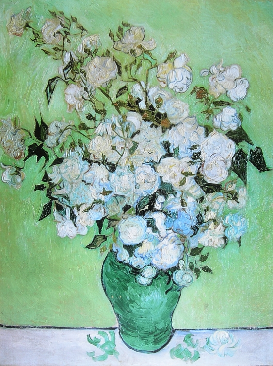vincent van gogh vase mit rosen poster kunstdruck bild 80x60cm ebay. Black Bedroom Furniture Sets. Home Design Ideas