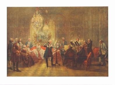 Adolph von Menzel Das Floetenkonzert Friedrichs II  in Sanssouci