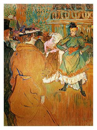 Henri Toulouse-Lautrec Quadrille at the Moulin Rouge, 1892