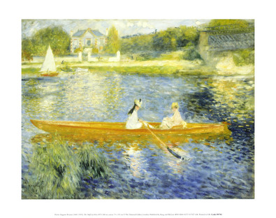 Pierre Auguste Renoir Boating on the Seine, 1875