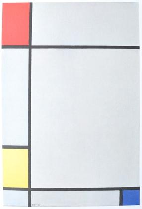 Piet Mondriaan o.T. (rot, gelb, blau)