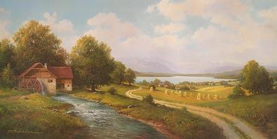 Gerhard Neswadba Erntelandschaft