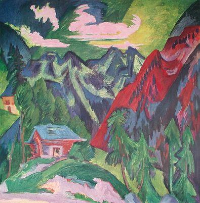 Ernst Ludwig Kirchner Die Klosterser Berge (Schweiz)