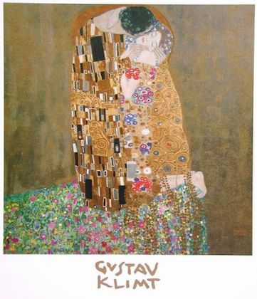 gustav klimt der kuss gesamt poster kunstdruck bei. Black Bedroom Furniture Sets. Home Design Ideas