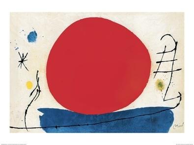 Joan Miro Ohne Titel (Rote Sonne)