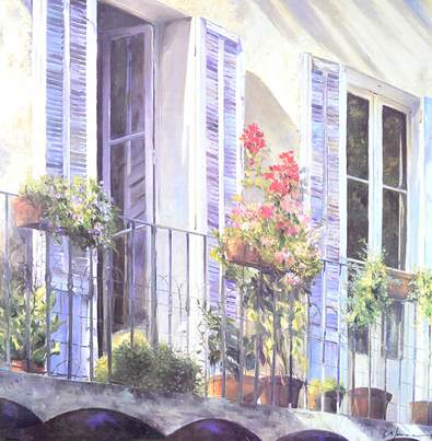 Christian Sommer Balcon a Grasse (Provence)