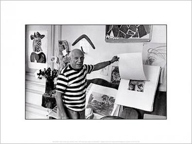 Rene Burri Pablo Picasso, Villa In Cannes, 1957
