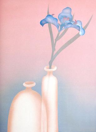 Schlichtholz Blaue Iris (klein)