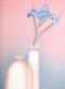 Schlichtholz blaue iris klein medium