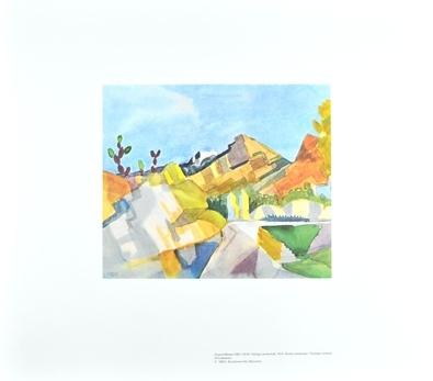 August Macke Felsige Landschaft