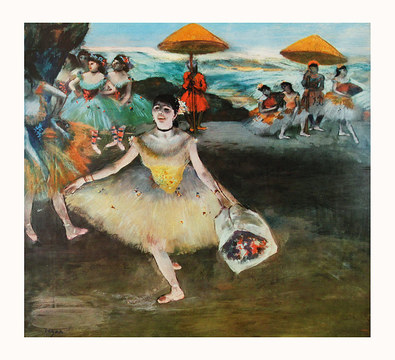 Edgar Degas Dancer with Bouquet