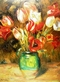Renoir auguste tulpen in vase medium
