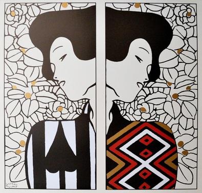 Gustav Klimt Silhouette I - II