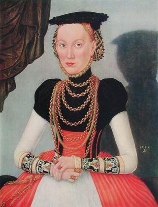 Lucas Cranach Bildnis einer Frau (Kleinformat)