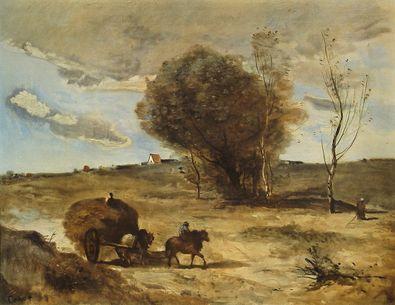 Jean Baptiste Camille Corot Der Wagen in den Duenen