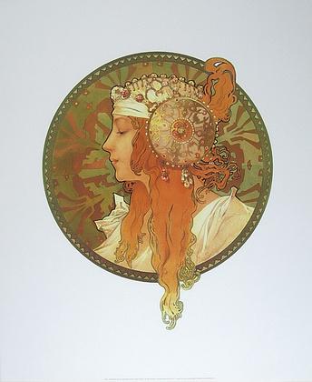 Alphonse Mucha Blonde