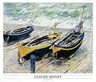 Monet claude three fishing boats medium