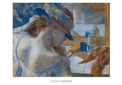 Edgar degas devant le miroir poster kunstdruck bei for Derniere volonte devant le miroir