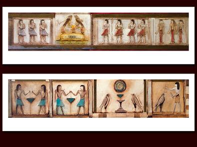 Jan Eelse Noordhuis 2er Set 'Symbols of Egypt I + II'