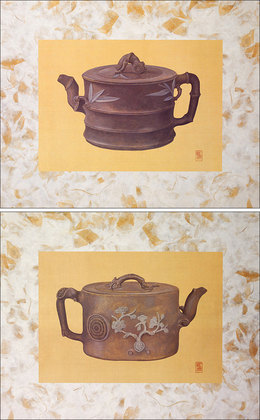 Susanna Blunt 2er Set Stout Bamboo Teapot & Stout Cherry Blossom Teapot