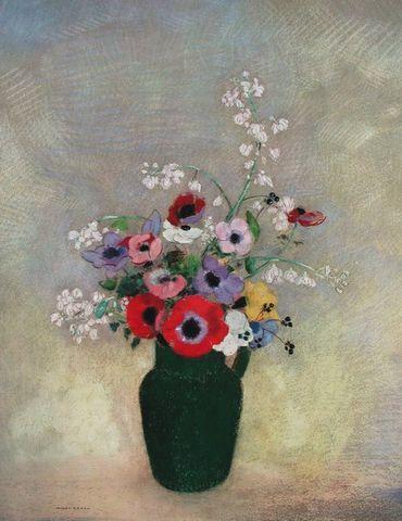 Beliebt Bevorzugt Odilon Redon Grosse gruene Vase mit Blumen Poster Kunstdruck bei #OO_61
