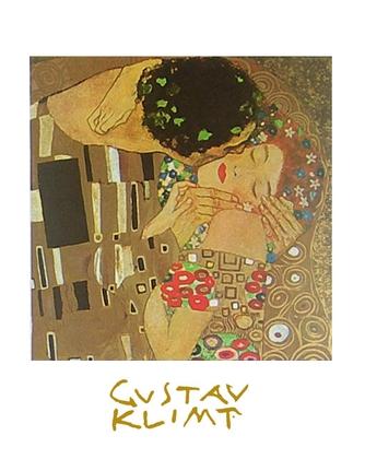Gustav Klimt Der Kuss (Ausschnitt)