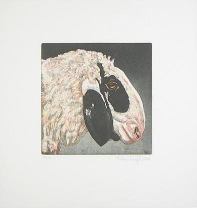 Karin Kneffel Tierkoepfe - Schaf (1 von 12 Blaettern) (2005)