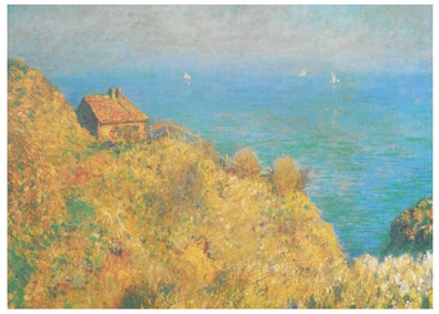 Claude Monet Fisherman's Cottage on the Cliffs at Varengeville