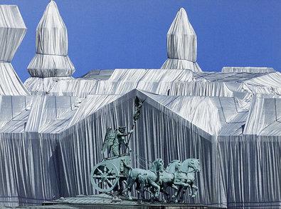 Christo Reichstag mit Quadriga