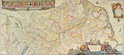 Willem Blaeu Karte der Rheingegend, 1635