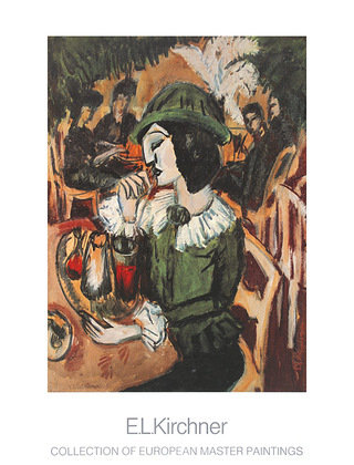 Ernst Ludwig Kirchner Gruene Dame im Gartencafe, 1912