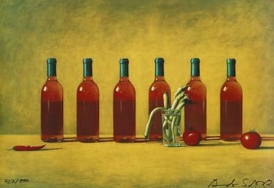 Andreas Scholz Rose und Tomaten (signiert)