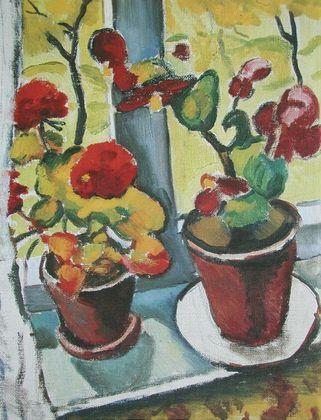 August Macke Blumen am Fenster   Begonien